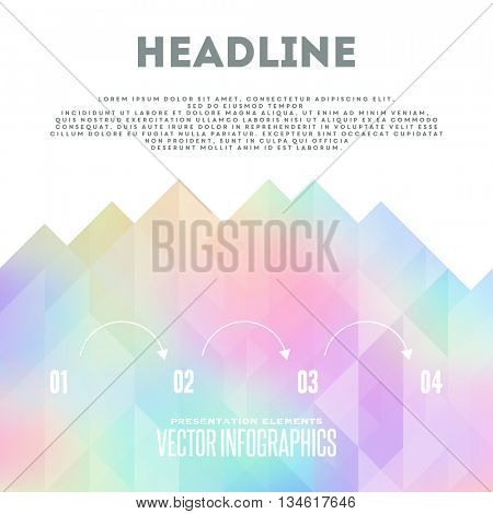 Holographic vector brochure template