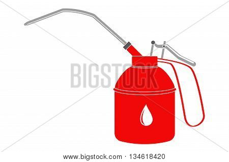 Drop-oiler. Vector illustration isolated on white background