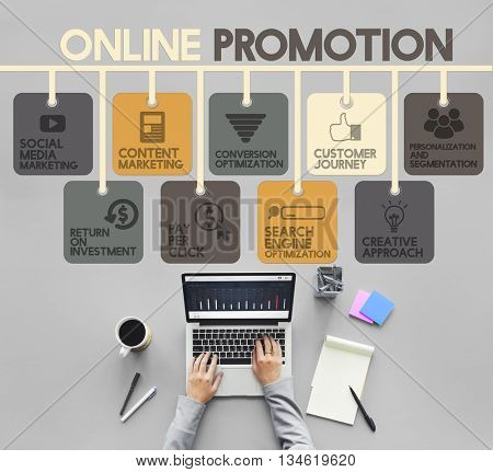 Online Promotion Advertisement Commercial Concept