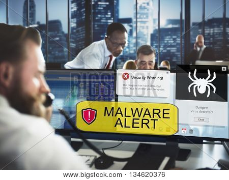 Business People Technology Computer Security Concept