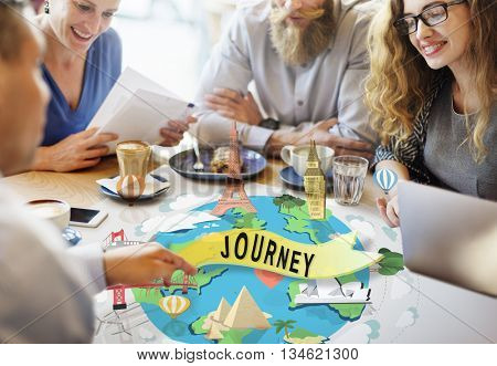 Journey Exploration Tour Travel Trek Vacation Concept