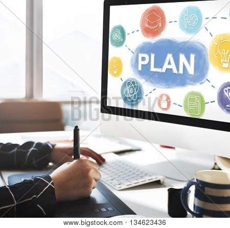 Plan Planning Business People Graphic Concept