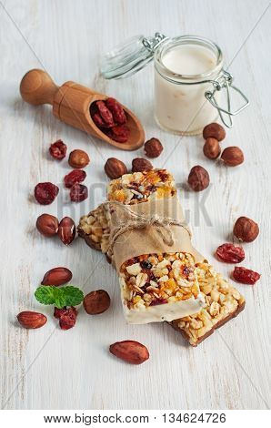 Healthy Cereal Bars With Fruits And Nuts