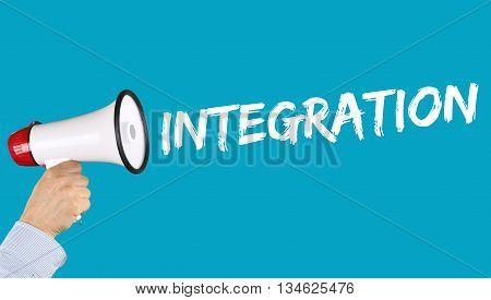 Integration Immigrants Refugees Immigrant Refugee Megaphone