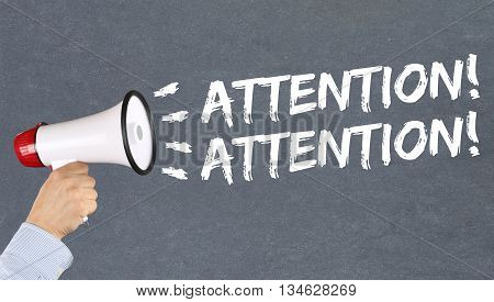 Attention Announcement Announce Warning Information Megaphone