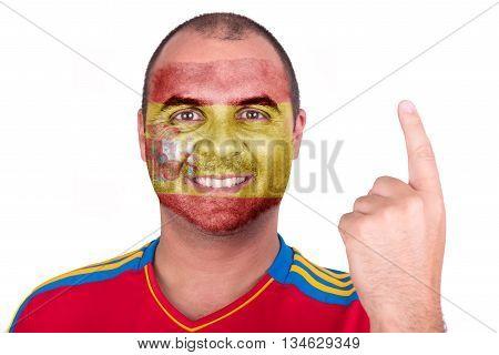 Man With Spain Flag