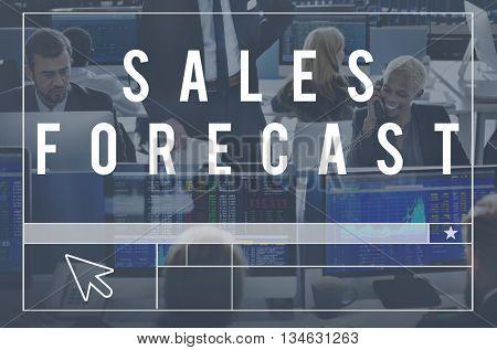 Sales Forecast Forecasting Future Investment Concept