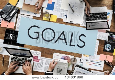 Goals Aspirations Inspiration Mission Target Concept