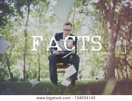 Facts Actuality Reality Observation Experiment Truth Concept