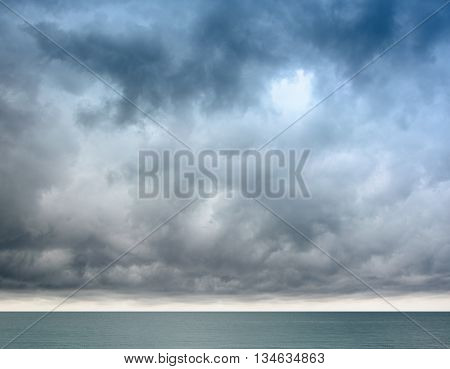 Сlouds over the sea in a horizontal format