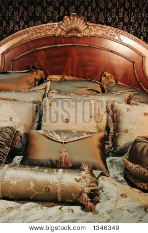Double Bed With Beautiful Linen