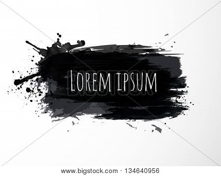 Black grunge background with place for your text. Vector illustration.