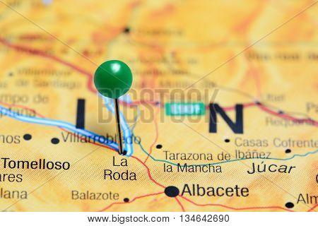 La Roda pinned on a map of Spain