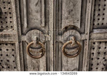 Vintage metal door.old iron door,vintage door,old metal
