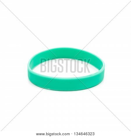 Colored latex bracelet on White Background one color