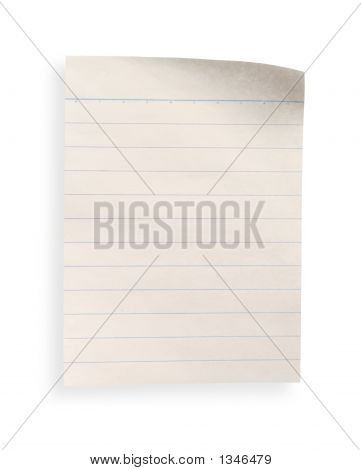 Old Lined Paper With Clipping Path