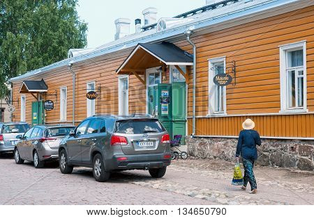 LAPPEENRANTA, FINLAND - JUNE 15, 2016: Majurska Cafe in Willmanstrand Fortress last territory. House was built in the mid 18th as a residential building for the families of the officers