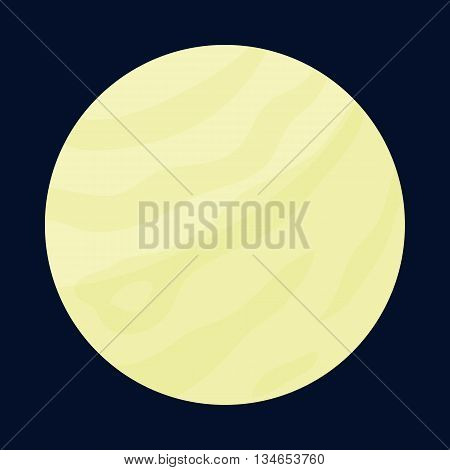 Planet icon in cartoon style isolated on dark background