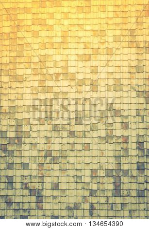 Texture of old roof tiles  ( Filtered image processed vintage effect. )
