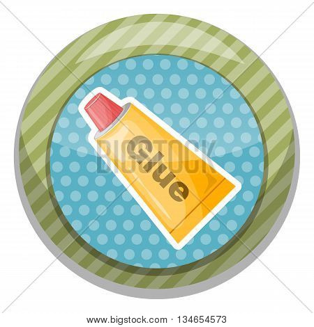 Tube of glue icon. Vector illustration in cartoon style