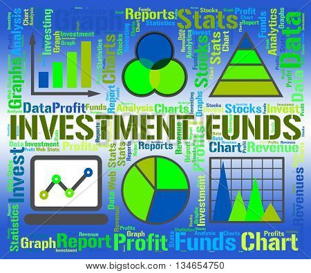 Investment Funds Indicates Business Graph And Chart