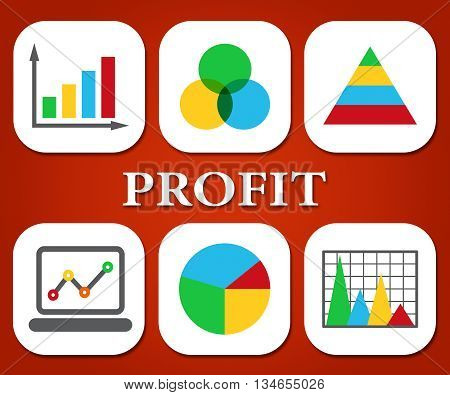 Profit Charts Represents Earnings Graphics And Graph