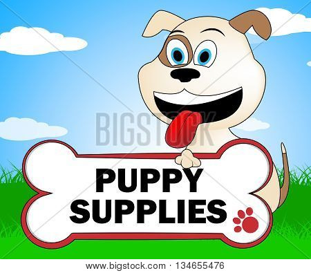 Puppy Supplies Indicates Canines Canine And Merchandise