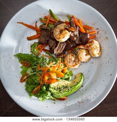 Surf And Turf With A Salad