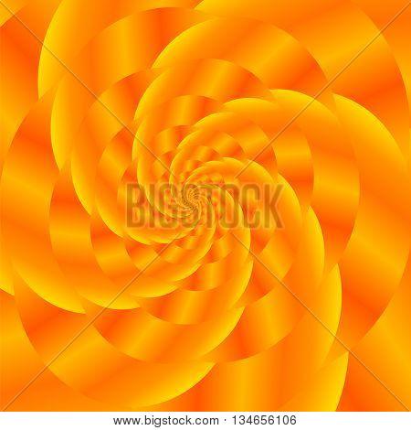 Fractal Design. Abstract Sphere. Gold Spiral Background. Fractal Pattern