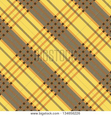 Seamless tartan pattern. Plaid twill yellow palette repeated tartan pattern. Diagonal texture Vector illustration.
