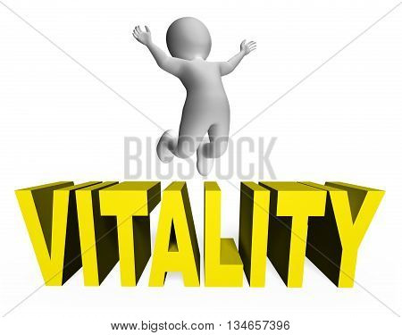 Vitality Character Represents Man Activity And Zest