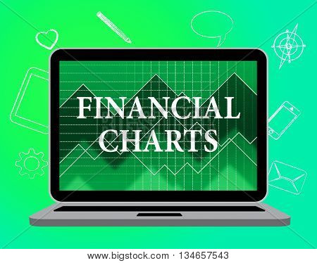 Financial Charts Means Web Site And Business