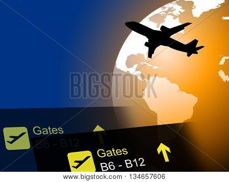 World Flight Means Worldly Globalization And Flights