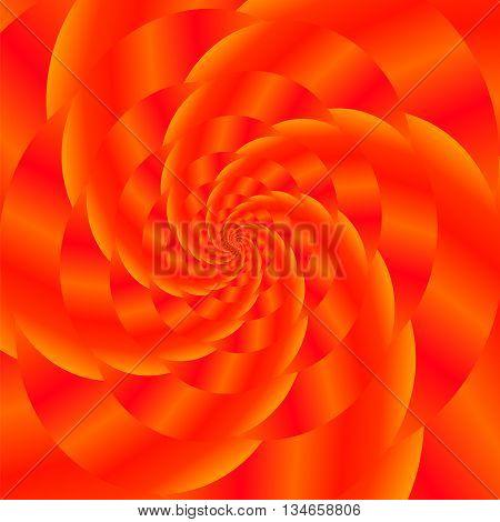 Fractal Design. Abstract  Sphere. Red Spiral Background. Fractal Pattern