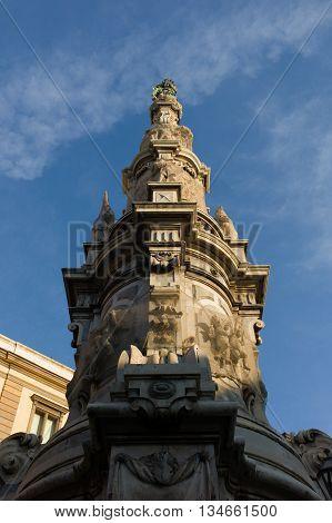 Obelisk, Detail , Naples., Italy