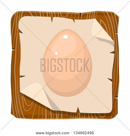 Egg vector colorful icon. Vector illustration of single egg