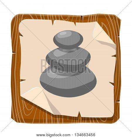 Spa stones illustration. Vector illustration in cartoon style