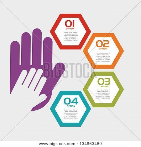 collaborative hands design, vector illustration eps10 graphic