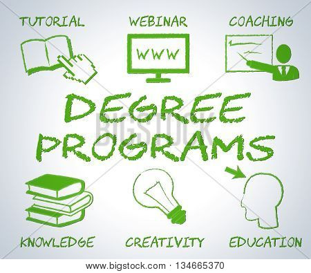 Degree Programs Shows Web Site And Associates