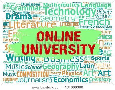 Online University Means Educational Establishment And Colleges