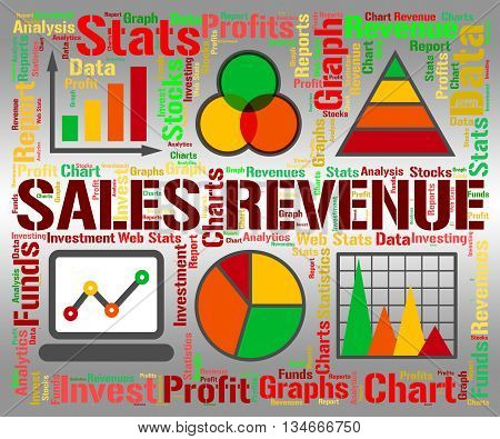 Sales Revenue Represents Profits Rebate And Save
