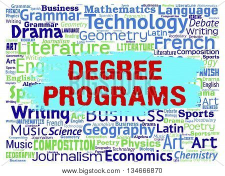 Degree Programs Means Training Words And Master's