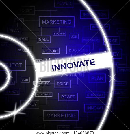 Innovate Word Represents Improved Innovating And Transformation