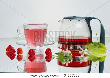 raspberry tea for health from nature.relaxing tea for health.