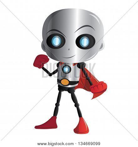Illustration 2D  Personnage Enfant : Robot Super Héros