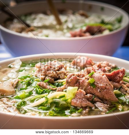 A delicious Pho soup in Asia, Vietnam