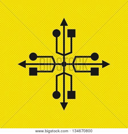usb device design, vector illustration eps10 graphic