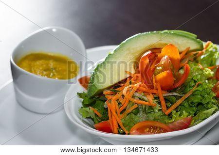 Refreshing Salad With Avocado