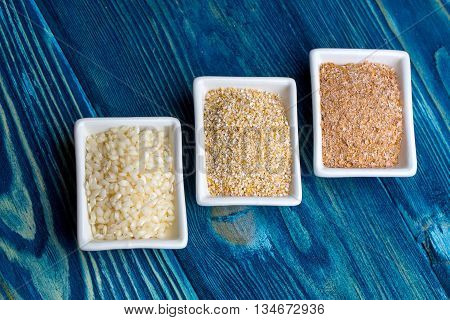 Plates With Grain Crops