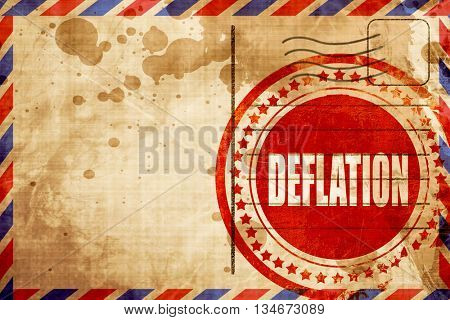 Deflation sign background